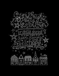 Free Christmas printable from HopeInk | Also available in black on white for coloring