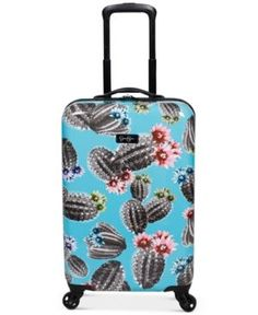 Elastic Travel Luggage Cover Watercolor Green Succulents Cactus Suitcase Protector for 18-20 Inch Luggage