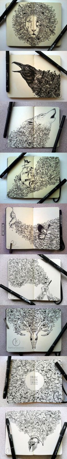 Funny pictures about Moleskine Drawings. Oh, and cool pics about Moleskine Drawings. Also, Moleskine Drawings photos. Et Tattoo, Samoan Tattoo, Polynesian Tattoos, Art Graphique, Art Plastique, Zentangles, Cool Drawings, Amazing Drawings, Sketchbook Drawings