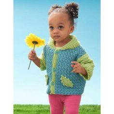 Free Intermediate Baby Cardigan Crochet Pattern