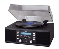 TEAC LP-R400 Turntable CD Recorder and Radio (Black)