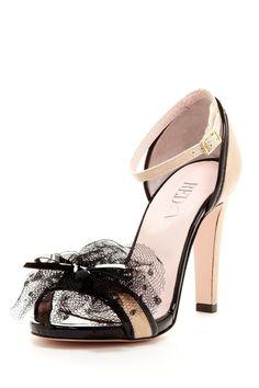 Polka Dot Mesh Bow Sandal
