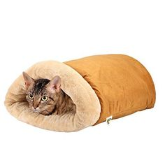 Pet Magasin Cat Cave  A FourWay Snuggly Bed and Hideaway for Cats ** More info could be found at the image url.