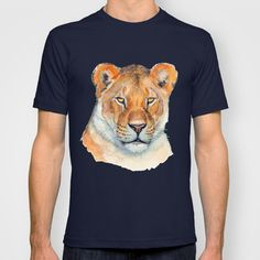 Lioness 845 T-shirt by S-Schukina - $18.00