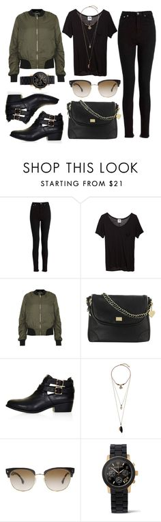"""Black is the new Black"" by pink-v-ogue ❤ liked on Polyvore featuring BLK DNM, Mlle Mademoiselle, Topshop, Marc B, Prada, Michael Kors, black, blackboots, jenner and kendalljenner"