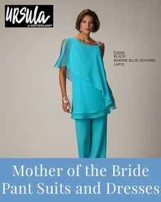 Comfortable mother of the bride pant suits and dresses >> Mother Of The Bride Trousers, Mother Of The Bride Suits, Mother Of Bride Outfits, Mother Of Groom Dresses, Best Formal Dresses, Plus Dresses, Slacks Outfit, Wedding Pantsuit, Groom Wear