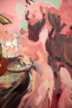 Skount, Cerezo and Laguna New mural in Barcelona — Urbanite Barcelona Spain, Street Artists, Urban Art, Illusions, Scene, Detail, World, Painting, Color