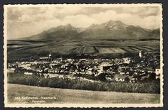 Slovensko, Kežmarok, Celkový pohled, cca 1935POHLEDNICE - Pohlednice