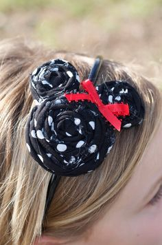 Minnie Mouse Rolled Flower Headband
