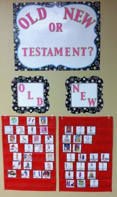 Bible Pocket Charts for Review with Printables