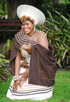 I will be a Ndebele bride in something similar to this. This is amazing , add a little color and its breathtaking