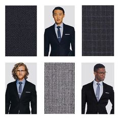 New suits are here! Silk blends, micro patterns and tonal stripes