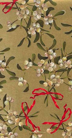 Christmas mistletoe paper from Italy by Rossi
