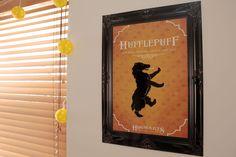 Hufflepuff bedroom design ideas - Harry Potter Hogwarts Hufflepuff Gryffindor Slytherin Ravenclaw Badger