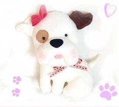 Stuffed dog stuffed toy stuffed animal by Fairybugcreativetoys Softies, Plushies, Cute Pillows, Toddler Gifts, Dog Toys, Nursery Decor, Cute Animals, Christmas Gifts, Dolls