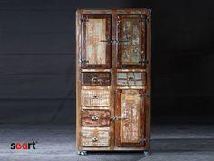 awesome wardrobe / niesamowita szafa - http://www.seart.pl/szafa-drewna-odzysku-fridge-p-2030.html