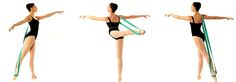 Ballet band for stretching Dancer: Miami City Ballet Principal Dancer Jennifer Carlynn-Kronenberg