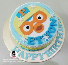 Pororo design fresh cream cake 4th Birthday, Birthday Ideas, Birthday Cake, Fresh Cream, Cute Cakes, Cream Cake, Arctic, Penguin, Party Ideas