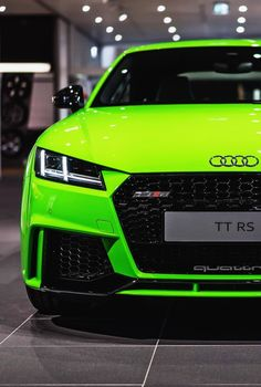 Lime green Audi TT RS