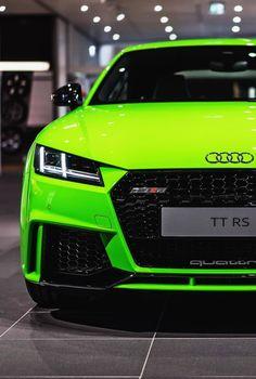 Lime green Audi TT RS