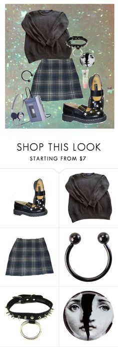 """""""ughhh"""" by lodonnell3011 ❤ liked on Polyvore featuring T.U.K., American Apparel, Cacharel and Fornasetti"""