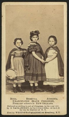 "Rosa, Rebecca and Augusta 1863.  Mixed race ancestry. Historic Photographs Of ""White"" Slaves"