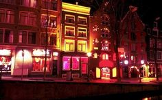 A street in the red light district of Amsterdam