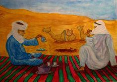 Titolo: the in the desert, Tecnica: acquerello, Dimensione: 35x25 cm, Artist: francesco l'artennista