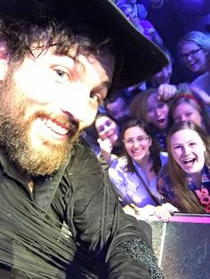 NYE!!  Scott and his selfies with the crowd, lol