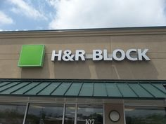 H & R BLOCK channel Letter sign #h&rblock #channelletters #businesssigns #commonwealthsign #customsigns