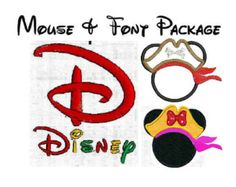 INSTANT Download - Disney inspired  Alphabet And Pirate Mouse Ears SET Machine embroidery font satin fill 208 designs