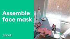 Cricut Watch a video tutorial on how to assemble your face mask cut on Cricut Easy Face Masks, Best Face Mask, Homemade Face Masks, Diy Face Mask, People With Glasses, Project Steps, Cricut Tutorials, Video Tutorials, Simple Face