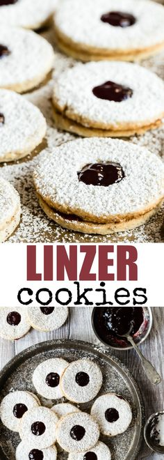 An easy recipe for crisp buttery Linzer Cookies. With almonds. An easy recipe for crisp buttery Linzer Cookies. With almonds in the dough and a sweet raspberry filling youll love how delicious these cookies are! Cookie Recipes, Dessert Recipes, Desserts Diy, Mousse, Galletas Cookies, Yummy Cookies, Easy Linzer Cookies Recipe, Easy Meals, Easy Recipes