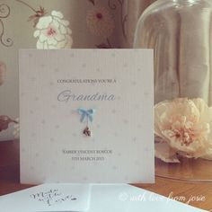 Grandma/Grandad Card  Congratulations by WithlovefromJosie on Etsy