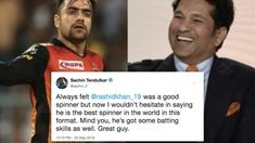 Rashid Khan is the best spinner in the world in Sachin Tendulkar Cricket Sport, Cricket News, Sachin Tendulkar, Sports Stars, My Life, Army, Good Things, Orange, Sayings