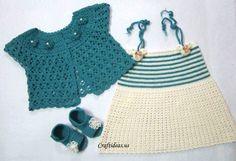 crochet summer dress and cardigan