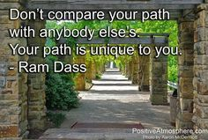 Don't compare your path with anybody else's.  Your path is unique to you.