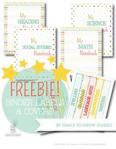 Free School Binder Spine Labels   Get It Together