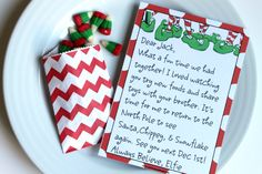 Free Elf on The Shelf Editable Letter by Piggy Bank Parties #holidayentertaining