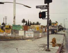 The Northwest Corner of Florence and Normandie Avenues, Los Angeles, California, October 1993; Joel Sternfeld (American, born 1944); Los Angeles, California, United States; negative October 1993; print 2005; Chromogenic print; 47 x 59.7 cm (18 1/2 x 23 1/2 in.); 2007.42; Gift of Nancy and Bruce Berman; J. Paul Getty Museum, Los Angeles, California