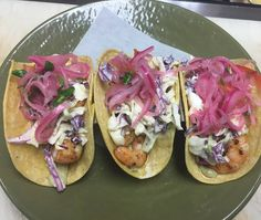 Shrimp Tacos!  Scallion Aioli Aji Amarillo Slaw Pico 3 for 11.50$ @boca31.denton  #boca31 #chefandresmeraz #dentonslacker #dealoftheday #lunchspecial #denton #dentontexas #dentontx #dentoning #wedentondoit #wddi #unt #twu #dentonite #doingitdenton #scoutdenton