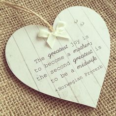 Handmade Wooden Midwife Mentor Thank You Gift Heart Plaque/Sign Quote