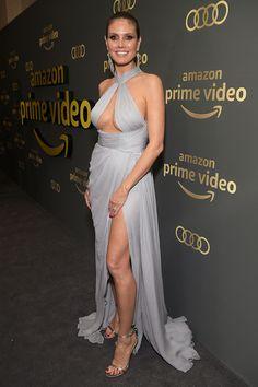 Golden Globes The After-Party Pictures Heidi Klum. Beautiful Celebrities, Gorgeous Women, Heidi Klum Model, Golden Globes After Party, Mein Style, Amazon Prime Video, Le Jolie, Dress Picture, Giuseppe Zanotti
