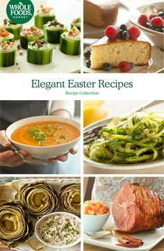 Elegant Easter Recipes // Put together the best Easter brunch with asparagus salad, hone-glazed ham, steamed artichokes and more!