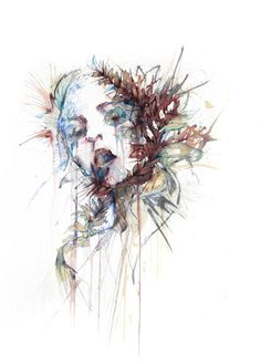 'The Violence of Flowers' by Carne Griffiths