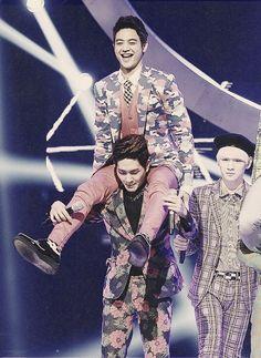 Minho haha XD isn't he tall enough already?