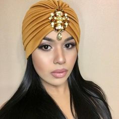 GOLD Jeweled Turban Great Gatsby Bohemian Boho Turbanista Chic Turban Glamour Gems Grecian Gypsy Birthday Party