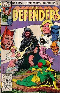 Defenders Vol 1 123 1983 Marvel Comics Beast Iceman Silver Surfer Vision Seraph | eBay