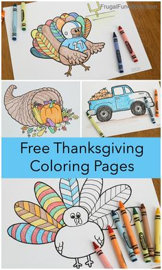 Printable Thanksgiving Coloring Pages - Frugal Fun For Boys and Girls
