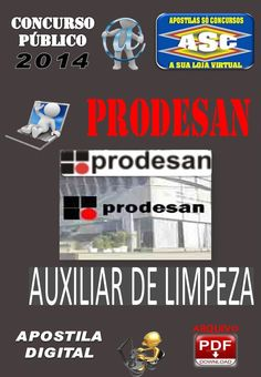 Apostila Concurso Publico Prodesan Auxiliar de Limpeza 2014